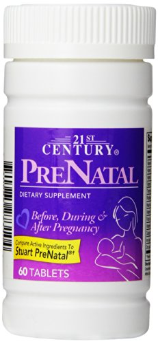 21st Century Prenatal Tablets, 60 Count (Pack of - 21st Century Vitamins Tablet