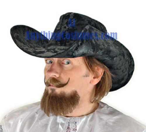 Black Musketeer Hat (Elope Musketeer Hat, Black)
