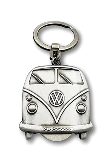 Brisa VW Collection VW T1 Bus Llavero, Chip de Carrito, en Caja de Regalo - Plata Antigua