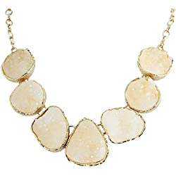 White Drusy Statement Necklace