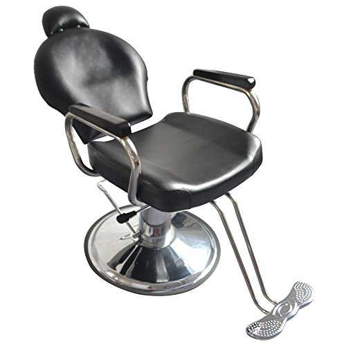 Z ZTDM Salon Classic Hydraulic Barber Chair Reclining Beauty Spa Equipment, Heavy Duty All Purpose with Headrest Black by Z ZTDM