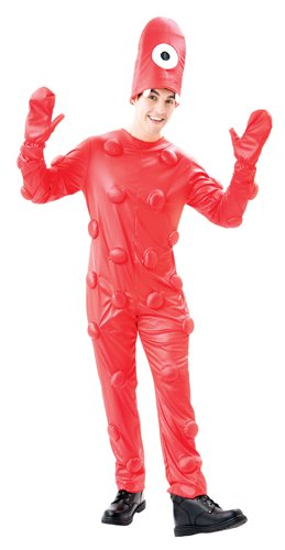 Paper Magic Yo Gabba Gabba Muno Deluxe Costume, Red, Large