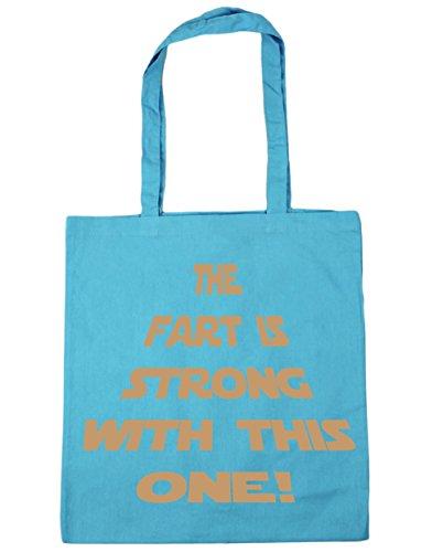 HippoWarehouse la Fart es fuerte con este una bolsa de la compra bolsa de playa 42cm x38cm, 10litros azul (Surf Blue)