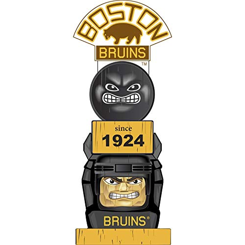 Team Sports America Boston Bruins Vintage NHL Tiki Totem Statue