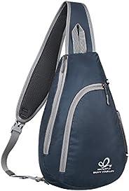 WATERFLY Sling Bag Backpack Crossbody Shoulder Bag for Men Women Single Strap Backpack Travel Hiking Daypack