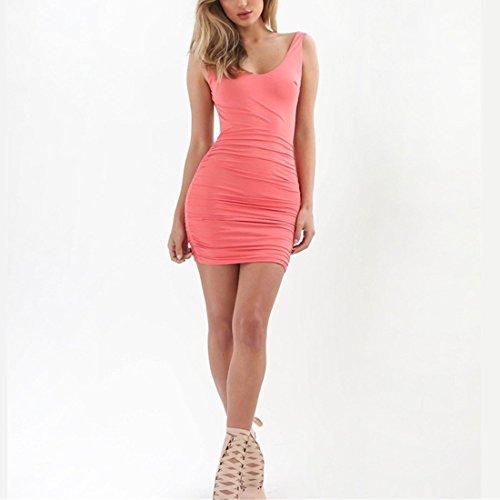 Minetom Damen Sexy Ärmellose Bandage Rückenfrei Bodycon Mini Kleid ...