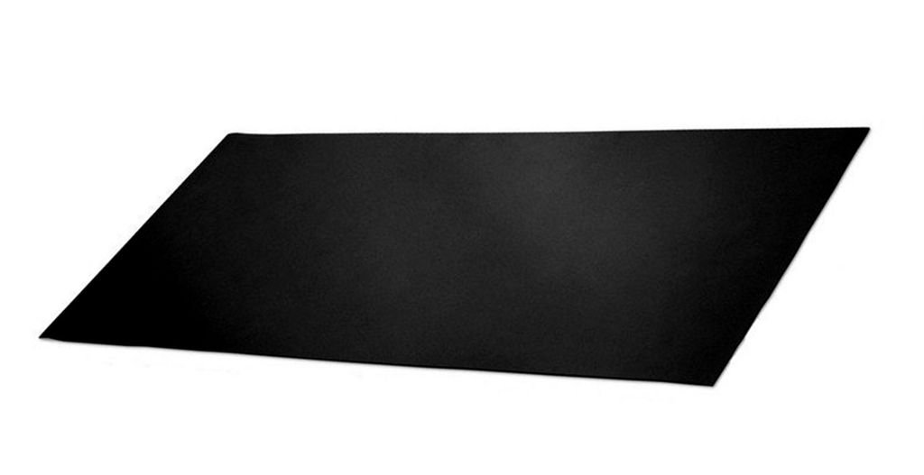 Ninepeak Rubber Sheets 12'' x 19.5'' x .02'', Black, Neoprene, Cushion, Gaskets DIY Material, Supports, Leveling, Sealing, Bumpers, Protection, Abrasion, Flooring, Work Bench by ninepeak (Image #1)