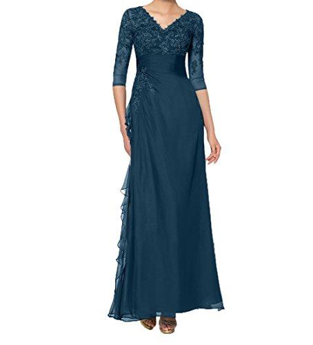 Charmant Blau Brautmutterkleider Mit 3 Spitze Etuikleider Navy 4 Promkleider Damen Langarm Partykleider Abendkleider qxR7qr