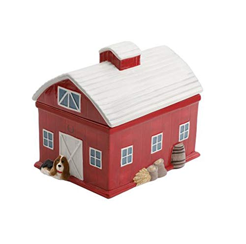 The Pioneer Woman Red Barn 7.9 Inch Cookie Jar (1)