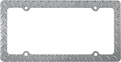 Custom Accessories 92570 Chrome Diamond Plate License Plate Frame