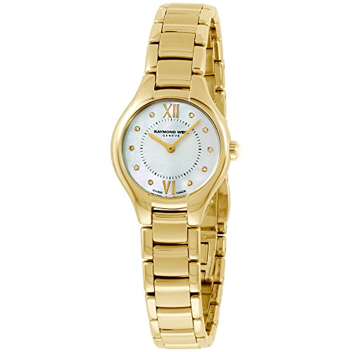 Raymond Weil Noemia MOP Dial Gold-Tone SS Quartz Ladies Watch (Mop Quartz Watch)
