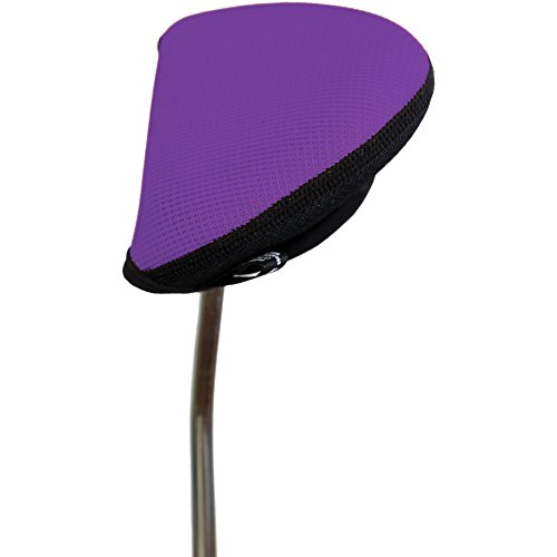 Stealth Club Covers 12130 Putter Oversize Mallet 2-Ball Golf Club Head Cover, Grape/Black