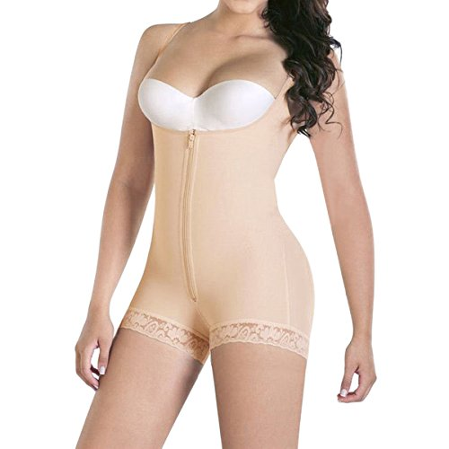 Shymay Women's Body Shaper Firm Control Postpartum Post Surgery Compression Garments, Nude, Tag Size M=US Size (Post Surgery Garments)