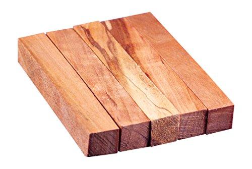 North American Cherry Wood Turning Pen Blanks | Wood Pen Blanks 5 Pack | 3/4