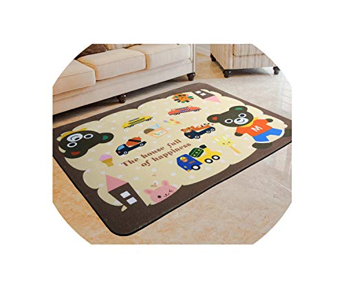 New Cartoon Carpets for Living Room Children Bedroom Rugs and Carpets Computer Chair Area Rug Kids Soft Play Mat,9,700mm x 1400mm