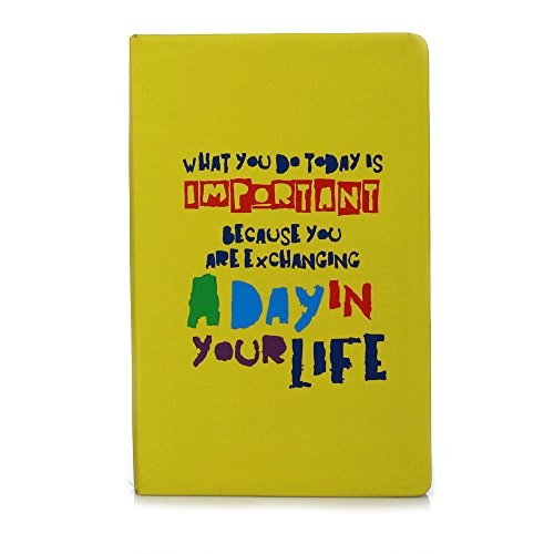 Doodle Day in your Life Typo Diary Notebook – A5, 80GSM, 200 Pages (Yellow)