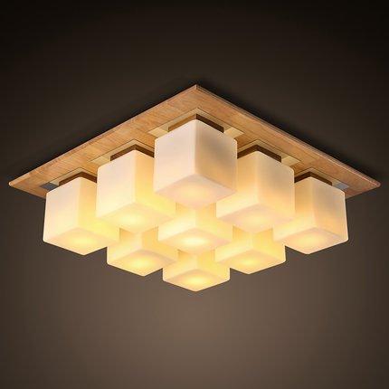 FLRLY Easy Fit modernos y Retro luz de techo de madera ...