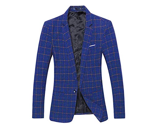 Leisure Fit 1 Suit Long Business Men's Sleeve Blau Lapel Knop Autumn Slim Jackets Stylish Casual Blazer Party wzq5O6qv
