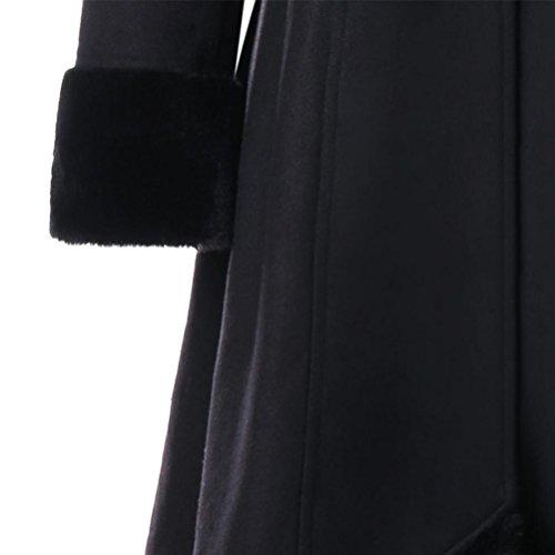 Tops Femme S Noir Mode XXL Manteaux a Tops Chaud Hiver Casual SHOBDW Blouson Noir 4pSZ50nn