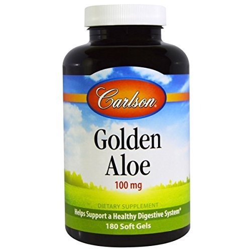 Golden Aloe (Carlson Golden Aloe, 100mg, 180 Softgels)