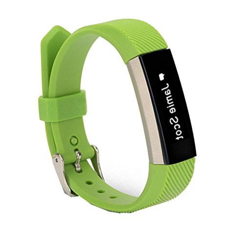 GBSELL Replacement Wrist Band Silicon Strap Clasp For Fitbit Alta HR Smart Watch Bracelet (Green)
