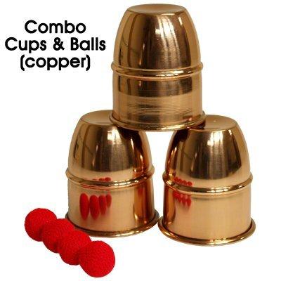 Magic Cups And Balls - Combo Cups & Balls (Copper) by Premium magic - Trick