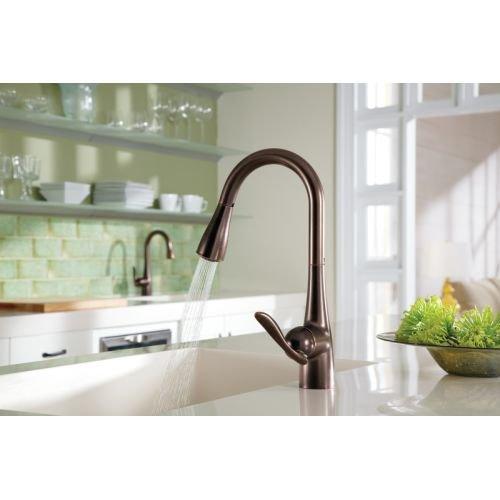 Moen Arbor One-Handle High Arc Pulldown Kitchen Faucet, Chrome (7594C)