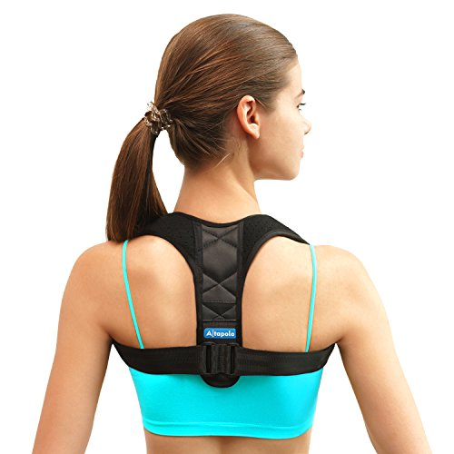 Shoulder Posture Corrector for Men & Women - Adjustable Clavicle Brace and Shoulder Posture Brace for Injury Rehab & Alignment - Improve Back with Figure 8 Shoulder Brace for Slouching & Hunching by Altapolo