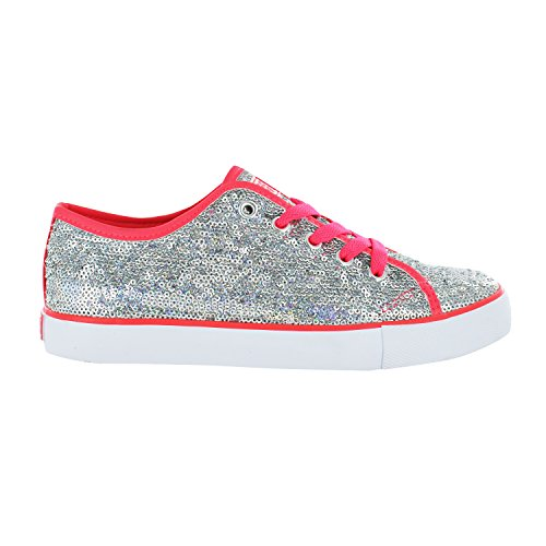Gotta Flurt Lace Silver Low Hot Pink Pizzazz Sneaker Top Up 11qOrAd
