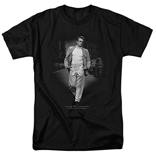 T-shirt Out Walk - Popfunk James Dean Out for a Walk Adult T Shirt (Large) Black