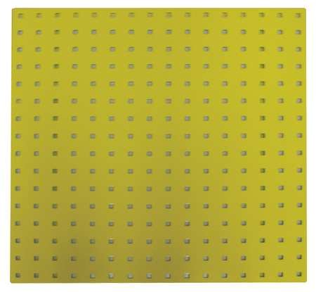 Square Hole Pegboard, 24x24, Yellow, PK2
