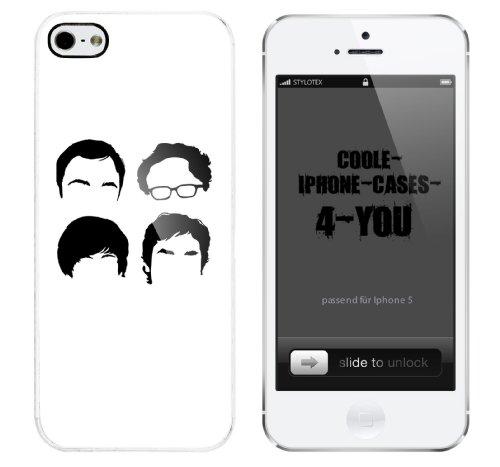 Iphone 5 Case Nerds Rahmen weiss