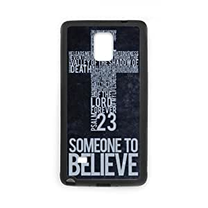 Unique Design Jesus Christ Christian Cross Quotes SamSung Galaxy Note 4 TPU (Laser Technology) Cases Protector