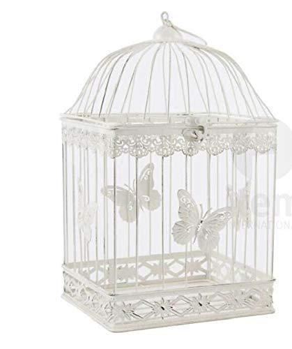 Jaula Decorativa Blanco Deko jaula pájaro jaula Shabby Chic French ...