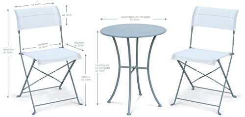 Bistrotisch Mit Stühlen amazon de runder bistrotisch mit 2 stühlen klappbar 60cm