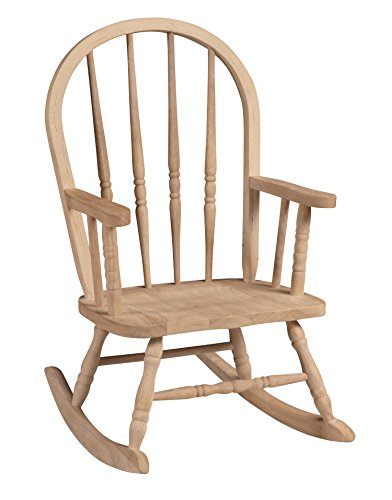 Unfinished Rocking Chairs - International Concepts 1CC-2140 Windsor Rocker, Unfinished