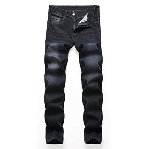 Leadmall Men's Denim Jeans - Men Casual Classics Slim Fit Outdoor Long Biker Denim Pants