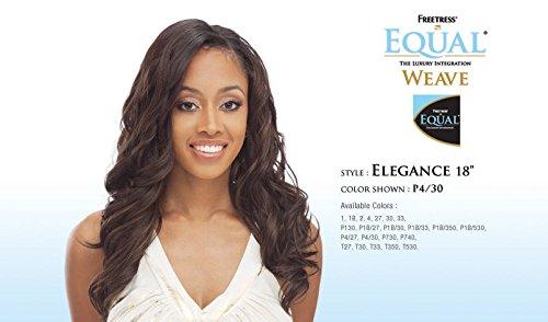 Elegance Hair Extensions (ELEGANCE 18'' - Freetress Equal Synthetic Hair Weave Extensions #2 Dark Brown)