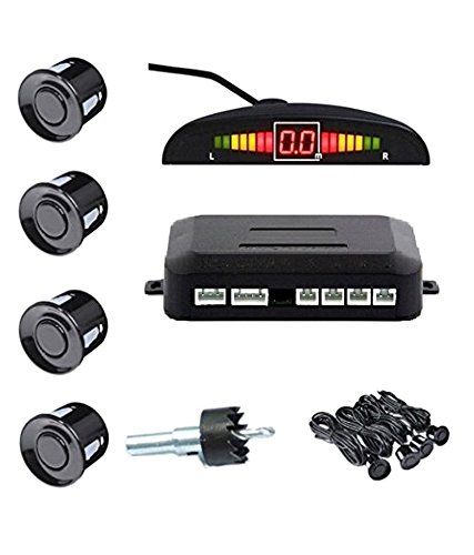 Zoook Moto69 Car Reverse Parking 4 Sensor Security System Led Display With Buzzer