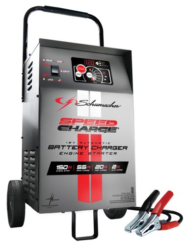 Schumacher SE-1555A 12V Automatic Wheeled Battery Charger with Engine Start (Volt Charger Starter Battery 12)