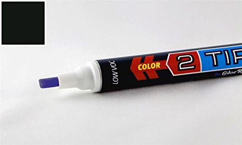 ColorRite 2Tip Nissan Maxima Automotive Touch-up Paint - Super Black KH3 - Color-and-Clearcoat Package