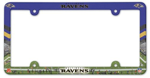 Wincraft NFL Baltimore Ravens LIC Plate Frame Full Color ()