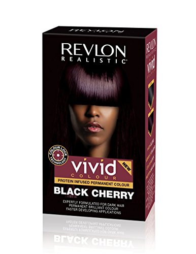 Revlon Vivid Colour Protein Infused Permanent Color Hair Dye with Color Lock Technology, Black Cherry 110ml (Best Hair Dye Products For African American Hair)