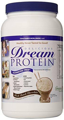 Dream Protein Whey Protein Powder, Rich Dutch Chocolate, 720 Gram