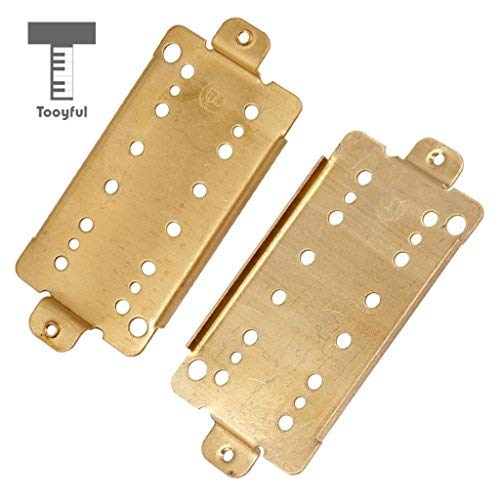 DDV-US - Durable 2 Pieces Electric Guitar Double Coil Pickup Humbucker Baseplate 50mm Pole ()