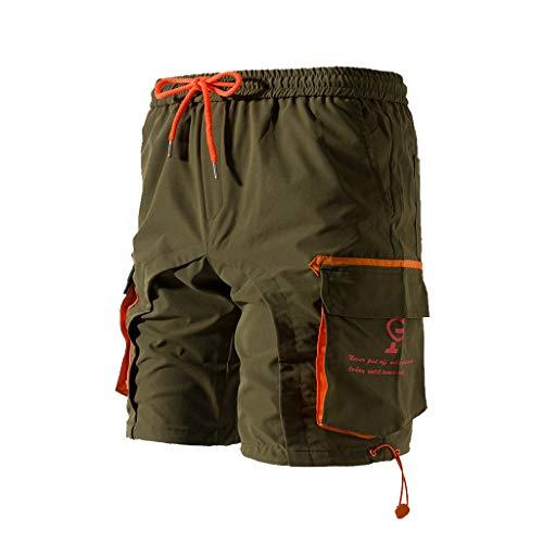 Men's Premium Industrial Cargo Short, MmNote Men's Big & Tall Renegade Cargo Shorts with Full Elastic Waist ()