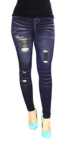 Jygles W38 Jeans Femme 01 Bleu Blau Blau Skinny 02BU rnrYwU6qd