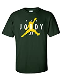 """Jordy Nelson Green Bay Packers """"Air Jordy"""" T-Shirt YOUTH LARGE"""