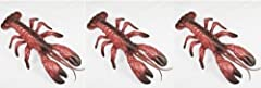 "3 New in package 11.5"" plastic lobsters. Great decorations for your LUAU or clambake."