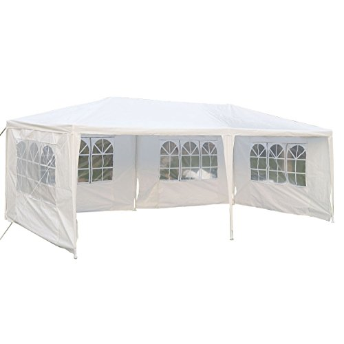 Price comparison product image Tangkula 10'x20' Wedding Tent 4 Walls with Window BBQ Party Outdoor Canopy Tent White